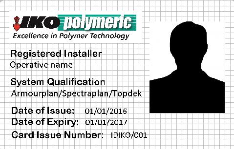 IKO polymeric training cards